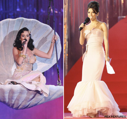 Katy Perry and Eva Longoria, celebrity gossip, marie claire