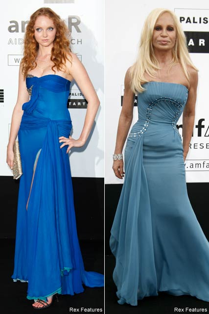 Lily Cole-and-Donnatella Versace-amfAR-Cannes Film Festival 2009-Celebrity Photos-22 May 2009