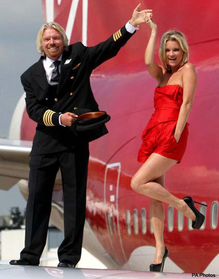 Kate Moss and Richard Branson  - Celebrity News - Marie Claire