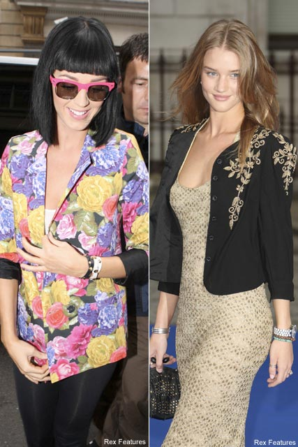 Katy Perry & Rosie Huntington-Whiteley - Celebrity News - Marie Claire