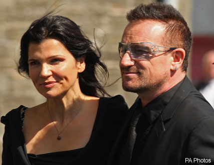 Bono at Andrea Corr's wedding