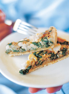 Caramelized leek, goat's cheese and spinach tart - Recipes - Marie Claire