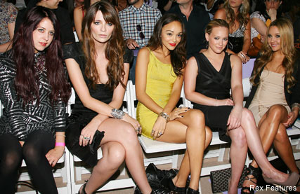 Herve Leger front row photos