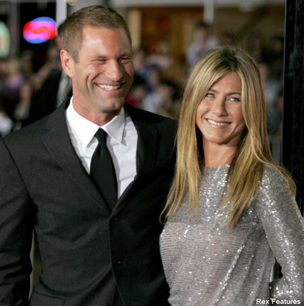 Jennifer Aniston and Aaron Eckhart - Celebrity News - Marie Claire