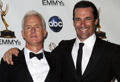 John Slattery and Jon Hamm, Mad Men, Emmy Awards 2009