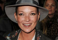 Kate Moss at the Topshop London Fashion Week show