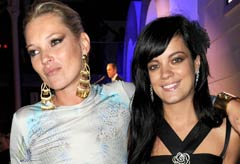 Kate Moss and Lily Allen at the GQ Awards 2009