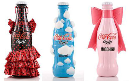 Moschino diet coke bottles, Milan Fashion Week