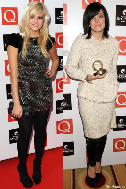 Lily-Allen and Pixie Lott-Q Awards 2009-Celebrity Photos