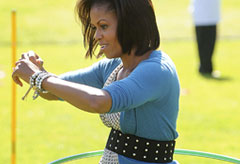 Michelle Obama hosts at Healthy Kids Fair at the White House