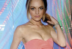 Lindsay Lohan at the Matthew Williamson party