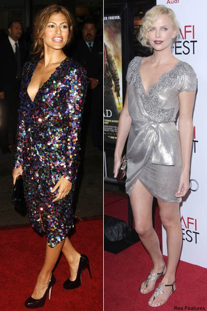 Eva-Mendes and-Charlize Theron-Celebrity Photos-Fashion News