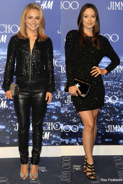Hayden Panettiere and Olivia Wilde  - Jimmy Choo for H&M - Celebrity News - Maire Claire