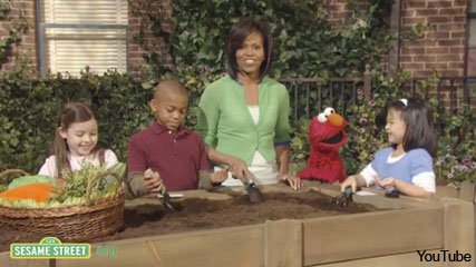 Michelle Obama on Sesame Street - Celebrity News - Marie Claire