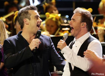 Robbie Williams and Gary Barlow, Take That, Children in need, Celebrity News, Celebrity Photos