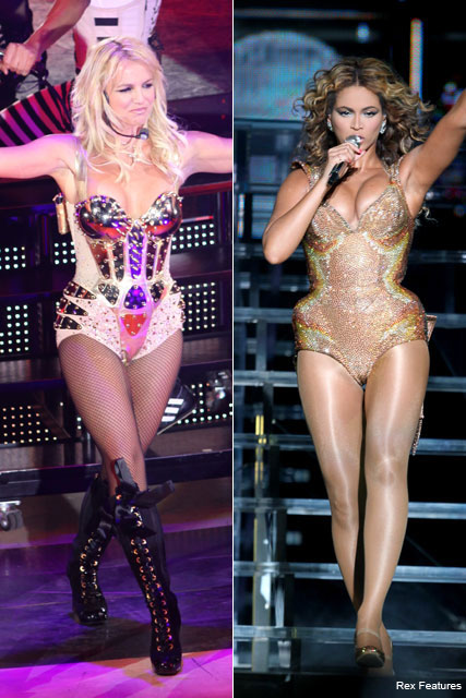 Britney Spears and Beyonce - Celebrities in underwear - Fashion - Marie Claire