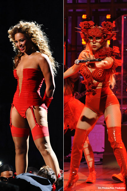 Beyonce & Lady Gaga - Celebrities in underwear - Fashion - Marie Claire