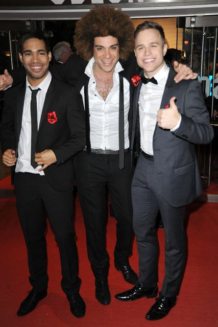 Danyl Johnson, Jamie Archer and Olly Murs - X Factor - A Christmas Carol premiere - Celebrity news - Marie Claire