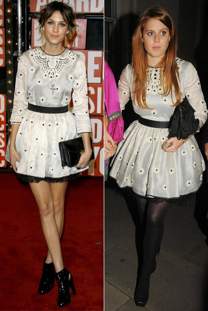 Who wore it best? Alexa Chung Vs Princess Beatrice in Luella dresses