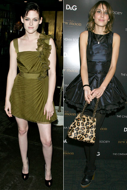 Kristen Stewart and Taylor Momsen: Twilight New Moon premiere
