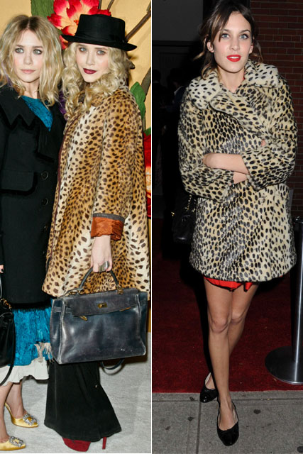 Alexa Chung and Mary-Kate Olsen - Leopard Print Coats
