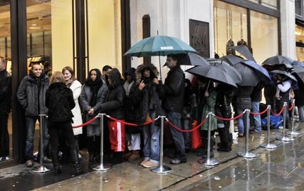 Shoppers queue for Jimmy Choo for H&M