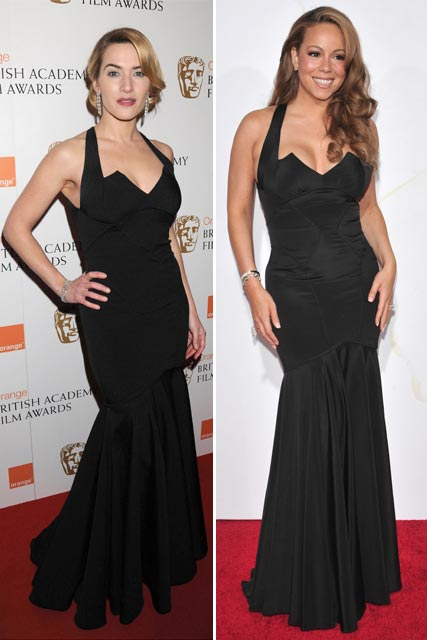 Who wore it best? Mariah Carey vs Kate Winslet: Zac Posen black dress