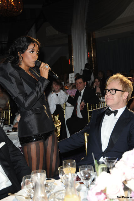 Kelly Rowland and Elton John - Celebrity News - Marie Claire