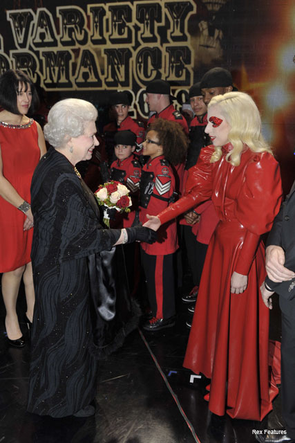 The Queen and Lady Gaga  - Royal Variety Performance - Fashion - Marie Claire