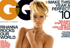 Rihanna topless on the cover of US GQ, Celebrity News, Celebrity Photos