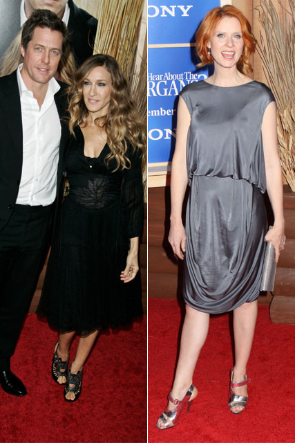 Sarah Jessica Parker, Hugh Grant and Cynthia Nixon at the Did You Hear About the Morgans? premiere