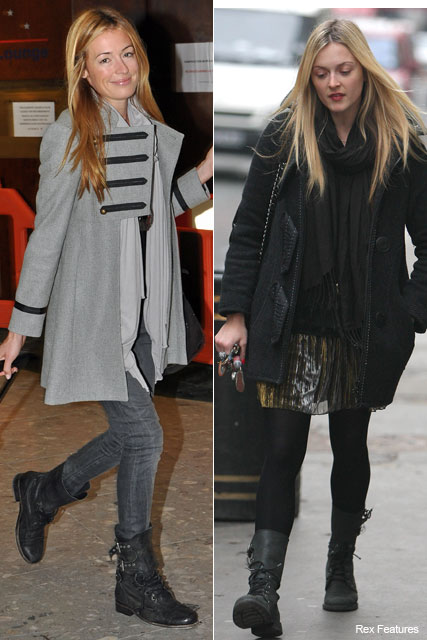Cat Deeley and Fearne Cotton - Trend: Celebrities in All Saints Military Boots - Marie Claire