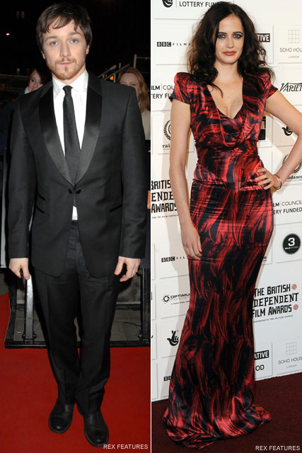 James McAvoy & Eva Green Celebrity News - Marie Claire