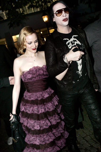 Evan Rachel Wood and Marilyn Manson - Celebnrity News - Marie Claire