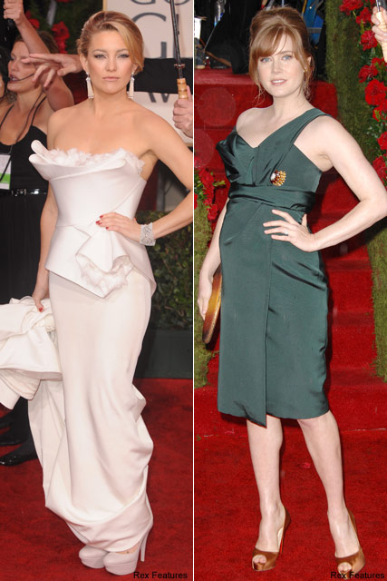 Kate Hudson & Amy Adams - Celebrity News - Golden Globes - Marie Claire