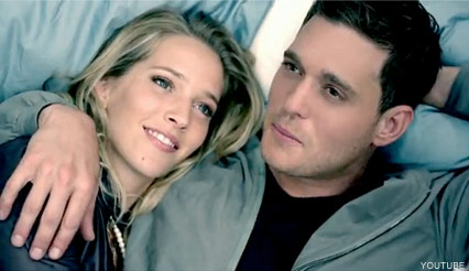 Michael Buble engaged to actress who stars in his video