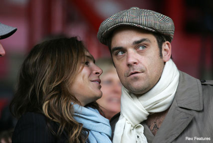 Robbie Williams and Ayda Field - Celebrity News - Marie Claire