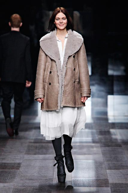 Burberry shearling coat - autumn/winter '09
