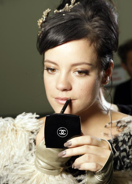 Lily Allen at the Chanel spring/summer 2010 Fashion Week show