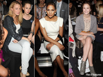 Blake Lively, Jennifer Lopez, Leighton Meester front row during fashion week - Marie Claire