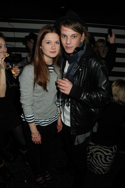 Bonnie Wright & Jamie Campbell Bower - Celebrity Photos - 21 December 2009
