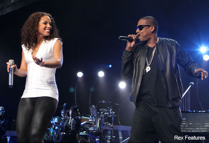 Alicia Keys and Jay-Z - In concert at Madison Square Garden, New York - Celebrity - Marie Claire