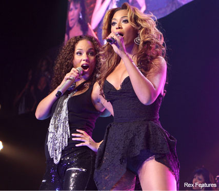 Alicia Keys and Beyonce Knowles - In concert at Madison Square Garden, New York - Celebrity - Marie Claire