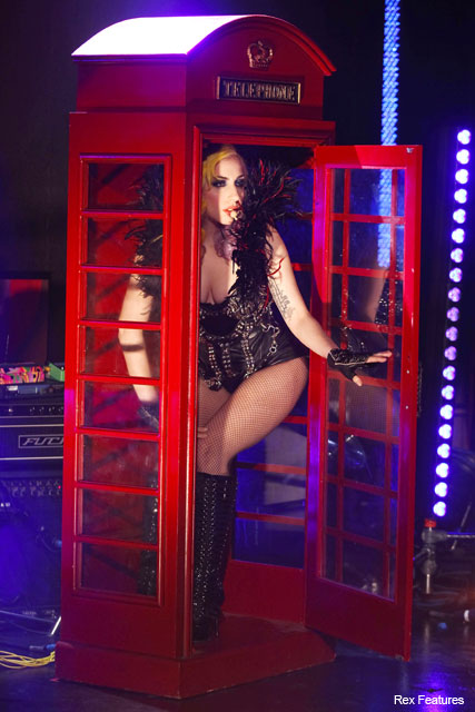 Lady Gaga on Jonathan Ross in telephone costumes - Fashion News - Marie Claire