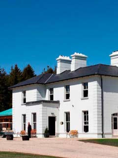 An exterior view of Lisloughrey Lodge in Ireland