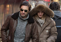 Rosie Huntington-Whiteley and Olivier Martinez in Paris, Celebrity Photos