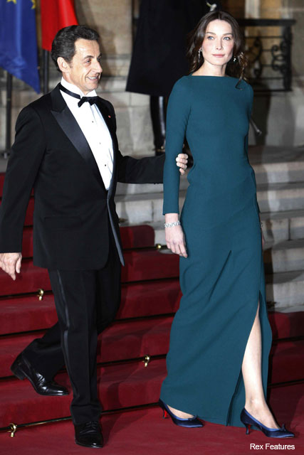 Carla Bruni-Sarkozy in Roland Mouret - Fashion News - Marie Claire