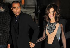 Cheryl Cole and Ashley Cole at Gary Barlow's 10 year wedding anniversary party