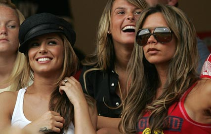 Victoria Beckham and Cheryl Cole at the 2006 World Cup