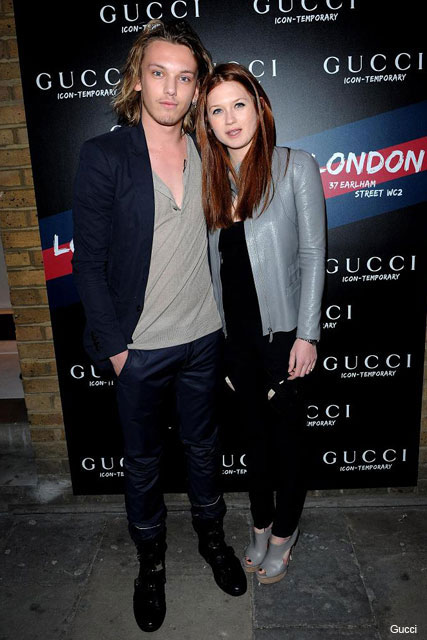 Jamie Campbell-Bower and Bonnie Wright - Gucci Icon Temporary Pop-up store, London - Marie Claire